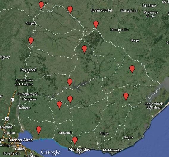 Estaciones meteorológicas que tenemos en Uruguay